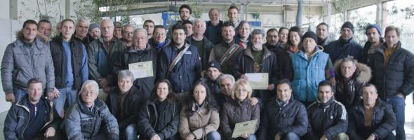 Si è concluso con successo il Primo Corso professionale di potatura dell'olivo